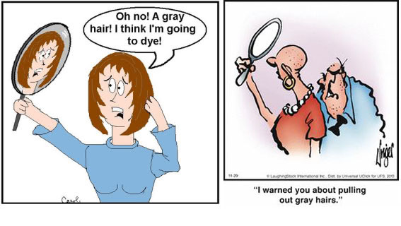 does stress cause grey hair